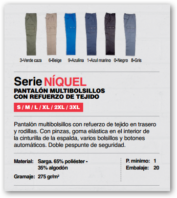 Ficha pantalon Niquel