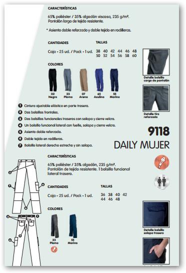 Ficha pantalon R9100