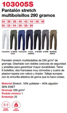 Ficha pantalon v 103005S