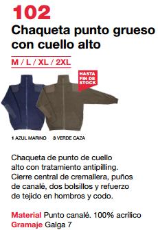 Ficha chaqueta v102