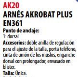 Ficha arnes s AK20