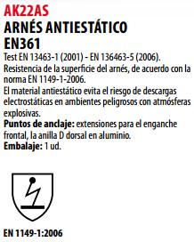 Ficha arnes s AK22AS