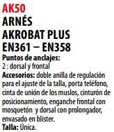 Ficha arnes s AK50
