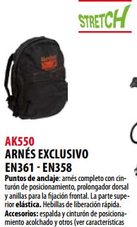 Ficha arnes s AK550