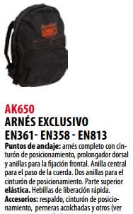 Ficha arnes s AK650