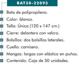 Ficha bata cp propileno 22093
