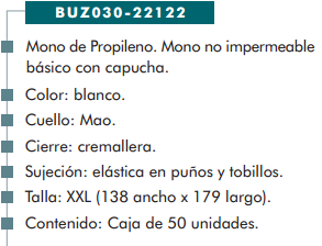 Ficha buzo cp 22122