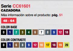 Ficha cazadora CC61601