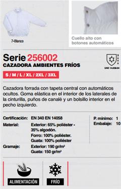 Ficha cazadora V256002