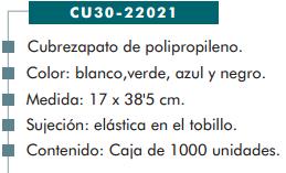 Ficha cubrezapato cp 22021