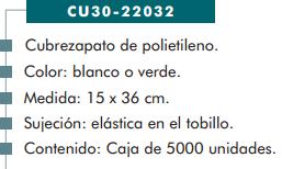 Ficha cubrezapato cp 22032