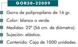 Ficha gorro cp 22009