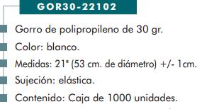 Ficha gorro cp 22102