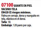 Ficha guante s 07100