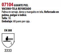 Ficha guante s 07104