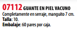 Ficha guante s 07112