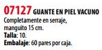 Ficha guante s 07127