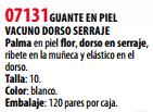 Ficha guante s 07131