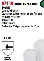 Ficha guante s 07138