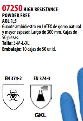 Ficha guante s 07250