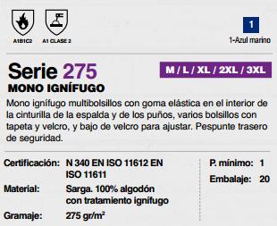 Ficha mono Ignifugo v275