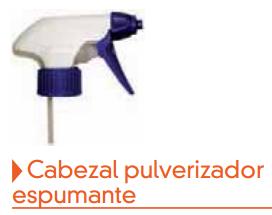 Cabezal pulverizador espumante