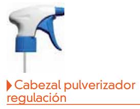 Cabezal pulverizador regulable