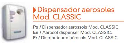 Dispensador aerosoles Classic