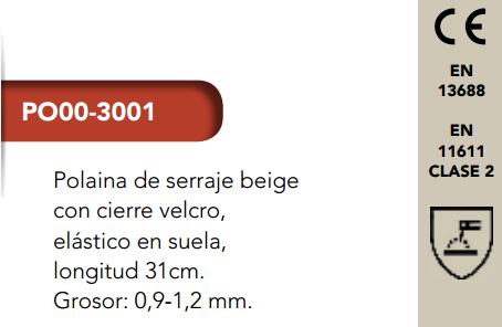 Ficha Polaina 3001