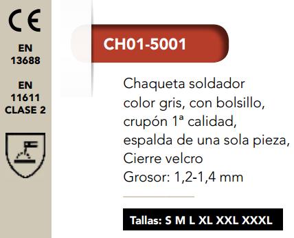 Ficha chaqueta soldador 5001