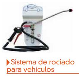 Sistema rociado para vehiculos